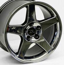 "17"" Black Chrome Mustang 03 Cobra Replica Wheels 17x9 17x10.5 5x114.3 Terminator"