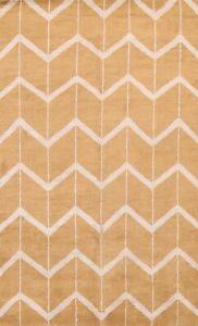 Chevron Modern Moroccan Oriental Area Rug Indoor/ Outdoor Handmade Carpet 5x8 ft