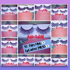 25Pc Wholesale Premium Mink Eyelashes Lot 6D Natural Dramatic Long Volume 3D