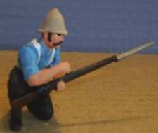 TOY SOLDIERS METAL ZULU WAR BRITISH  24TH FT SOLDIER KNEELING LOADING 54 MM