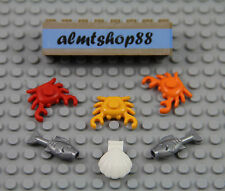 LEGO - 6 pcs Seafood Lot - Crab Clam Fish Food Kitchen Minifigure Cooking Meal