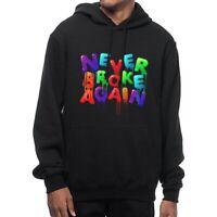 Mens Casual Hoodies Never Broke Again Hooded Loose Sweatshirts Pullover Nice
