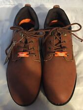 NEW Hawke & Co. Homer Lace-Up Sneaker, Brown Leather, MEN Size 11