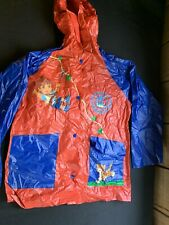 Diego Rain Coat Kids size M/L Animal Rescuer Nick Jr Baby Jaguar Red Blue