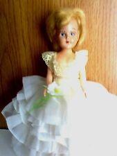 "Storybook Doll.Wearing A Nancy Ann ""Loves Me Loves Me Not"" Vintage Dress"
