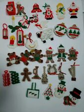 35 Exquisitely Handmade cross stitch plastic canvas Christmas ornaments!