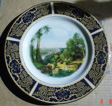 English Fine China Large Collectors Plate Old Fashioned Scene