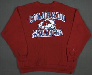 Colorado Avalanche Vintage 90's Logo 7 NHL Crewneck Sweatshirt XL
