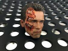 SALE!!! BEST T-800 Hot Toys DX13 Terminator 2 PERS Head Sculpt 1/6 Arnold