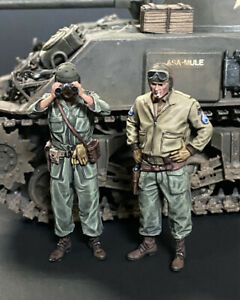 1/35 - US Tank Crew - Set 1 - WWII - 2 Resin Figures - Painted
