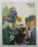 1967 San Francisco 49ers vs. LA Rams NFL Illustrated Program 128506