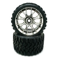Sweep Racing SRC Monster Truck Terrain Crusher Belted Tire Silver Wheel (2Pcs)