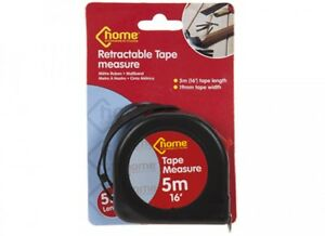 RETRACTABLE TAPE MEASURE 5 METRES 5m (displays feet, inches and cm)
