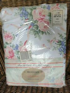 Double Brushed Cotton Flannelette Sheets Pillowcases Bed Set Thermal Floral VTG