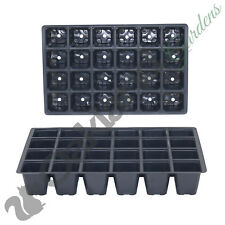 More details for 10 x 24 cell seed tray inserts full size plug trays bedding plant pack