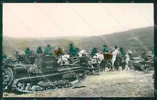 Militari Propaganda Fascismo Carri Armati Cavalleria Foto cartolina XF7396