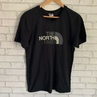 The North Face Medium Mens T-shirt Black With White & Grey Front Logo
