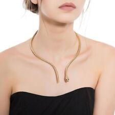 Women's Fashion Jewelry Gold Snake Choker Collar Necklace Tribal 62