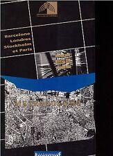 METROPOLE 90 Barcelone Londres Stockholm Paris + PARIS POSTER GUIDE