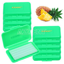 10 XDental Orthodontic Wax Dark Green- Pineapple For Brace Gum Irritation AZDENT