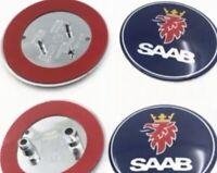 Blue SAAB 68mm BONNET & BOOT BADGE Front  & Rear 93 9-3 2003-2010