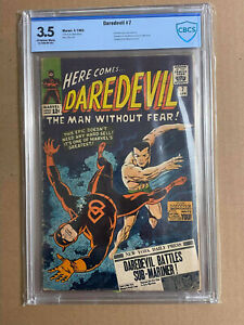 Daredevil 7 CBCS 3.5 graded first red suit slabbed Wally Wood art not CGC