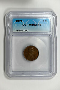 1971 ICG MS62 RB (Red-Brown) FS-101, DDO (Doubled Die Obverse) Lincoln Cent