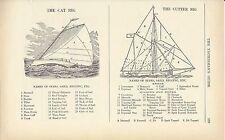 1935 Yachtsman's Guide Sails & Rigging Bark Cutter Catboat Sloop Schooner Brig