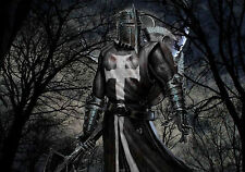Large Framed Print - Medieval English Knight (Picture Poster Templar Axe Art)