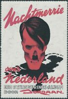 Artist Stamp Replica Label Netherlands 11 WWII Anti War Hitler Skull MNH