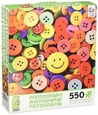 Ceaco Jigsaw Puzzle Photography Buttons Sewing Crafts Object Photo Art 550 Piece