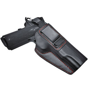 """1911 IWB fits Kimber Springfield Single Stack Concealed Carry Leather Holster 5"""""""