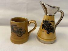 More details for vintage wade moko veteran car club 'sunbeam' jug & 'baby peugeot' beer tankard