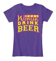 Real Women Drink Beer , Funny - Women's Premium Tee T-Shirt