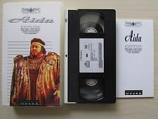 AIDA - GIUSEPPE VERDI - PAVAROTTI - 157 MINS - VHS PAL (UK) VIDEO 1986 VIRGIN.