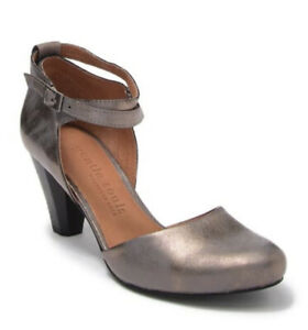 NEW Gentle Souls Kenneth Cole Raven Ankle Strap Pumps Pewter Women's Size 7 $220