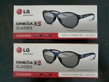 LG Cinema 3D Glasses AG-F310 4 Glasses - New in box!