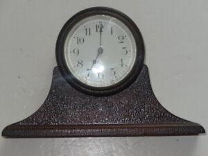 Antique Vintage New Haven Mini-Tambour Mantle Shelf Clock for Repair