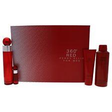 """""""Perry Ellis 360 Red for Men - 4 Pc Set 3.4oz EDT Spray, 0.25oz EDT Spray & More"""