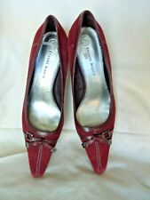 "Sz 6.5M Etienne Aigner Women's Leather Suede Shoes Pumps Plumb 3"" Heels Paulette"