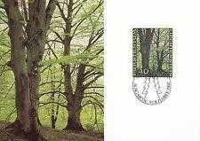 Liechtenstein Maxi Card Nr. 757 mit FDC-Stempel - Buchen im Frühling