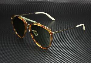 GUCCI GG0672S 003 Aviator Havana Shiny Gold Green 58 mm Men's Sunglasses