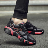 Mens Lace Up Sports Shoes Athletic Running Sneakers Breathable Air Cushion Flats