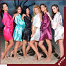 HOT!! SHORT BRIDAL ROBE WEDDING PARTY BRIDE TO BE BRIDESMAID SILK DRESSING GOWN