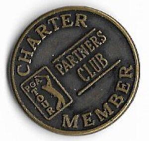 PGA Tour Partners Club Charter Member Golf Souvenir Vintage Medallion Coin