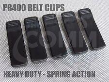 LOT OF 5 NEW MOTOROLA PR400 BELT CLIPS SPRING ACTION HEAVY DUTY BATTERY CLIP