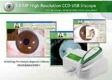 New 5.0 MP Single/Dual Lamp USB Eye Iriscope Iridology Camera & English Software
