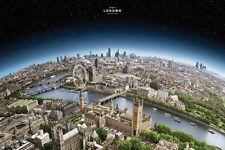 Visit London Global City View 24x36 Poster Print 32477PA