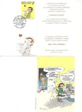 FRANQUIN GASTON LAGAFFE INVITATION PHILATELIE TIMBRE + OBLITERATION 1er JOUR
