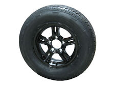 "AM02ABR 175/80R13 LRD Radial Trailer Tire on 13"" 5 Lug Aluminum Trailer Wheel"